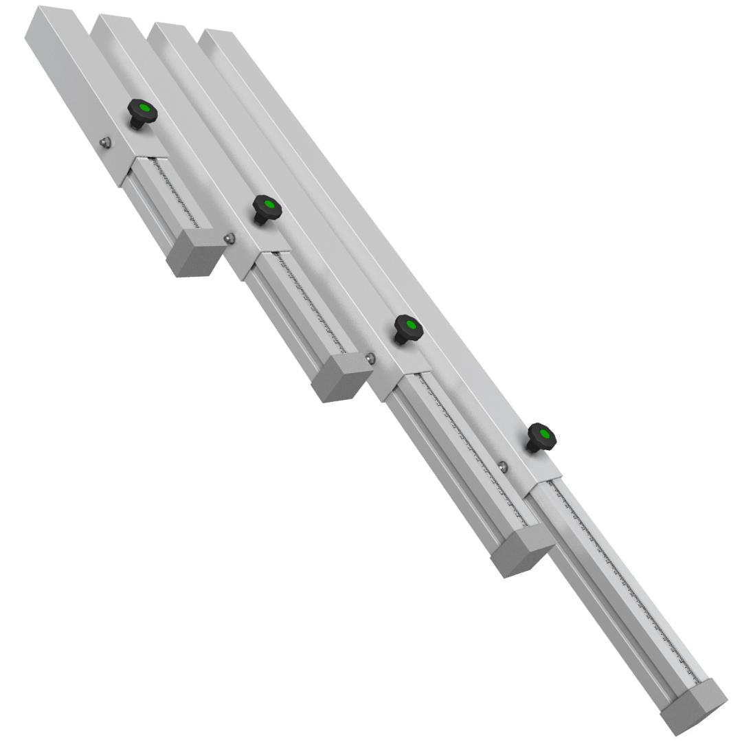 Gamba Alluminio telescopica Ignesti Ø 30 mm 60+40-50+40 cm